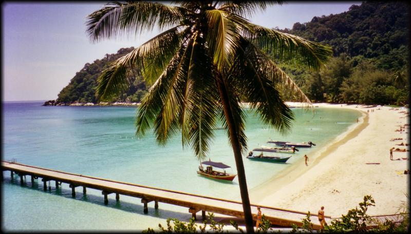 Cheaper paradise - the beautiful beach in the Perhentian Islands, Malaysia.